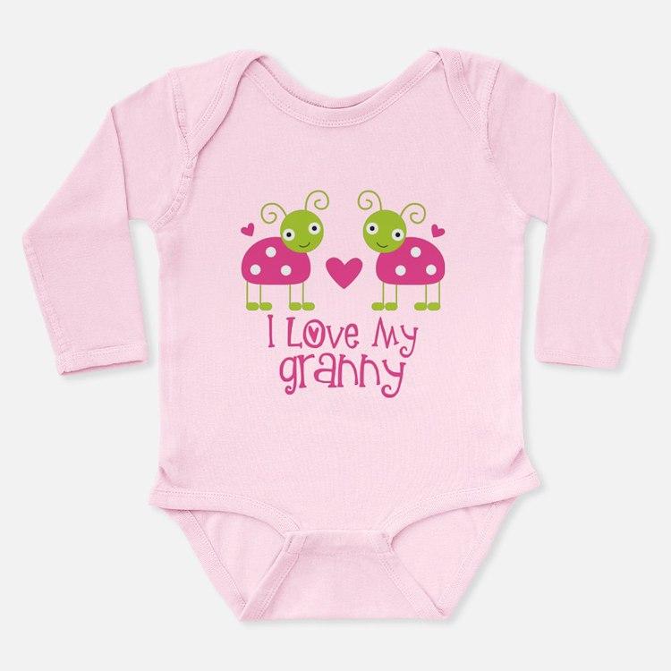 I Love Granny Ladybug Long Sleeve Infant Bodysuit