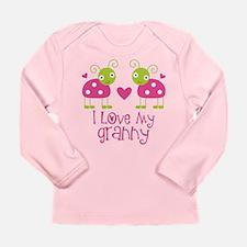 I Love Granny Ladybug Long Sleeve Infant T-Shirt