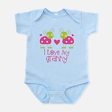 I Love Granny Ladybug Infant Bodysuit
