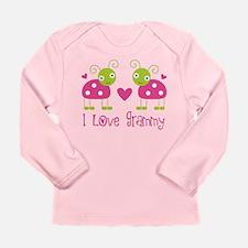 I Love Grammy Ladybug Long Sleeve Infant T-Shirt
