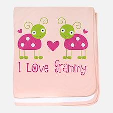 I Love Grammy Ladybug baby blanket