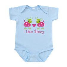 I Love Grammy Ladybug Infant Bodysuit