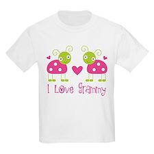 I Love Grammy Ladybug T-Shirt