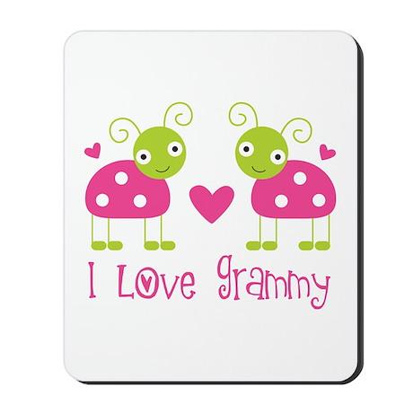 I Love Grammy Ladybug Mousepad