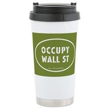 Occupy Wall St Oval Green Travel Mug