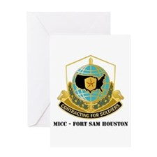 MICC - FORT SAM HOUSTON with Text Greeting Card