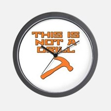 This is not a Drill Hammer Wall Clock