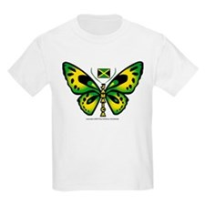 Jamaica Butterfly Kids T-Shirt