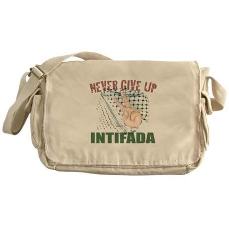 Messenger Bag 'NEVER GIVE UP'