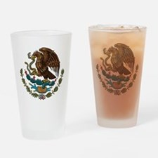 Mexican Coat of Arms Drinking Glass