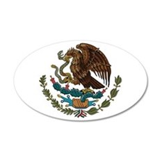 Mexican Coat of Arms 38.5 x 24.5 Oval Wall Peel