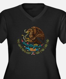Mexican Coat of Arms Women's Plus Size V-Neck Dark
