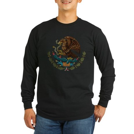 Mexican Coat of Arms Long Sleeve Dark T-Shirt