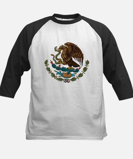 Mexican Coat of Arms Kids Baseball Jersey