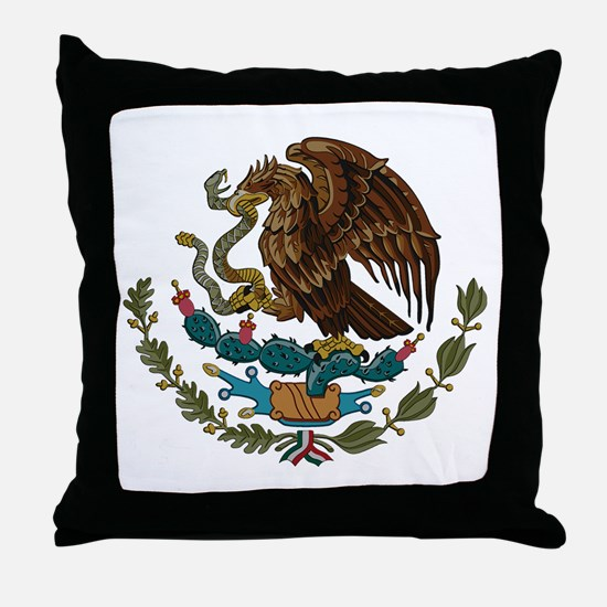Mexican Coat of Arms Throw Pillow