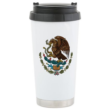 Mexican Coat of Arms Stainless Steel Travel Mug