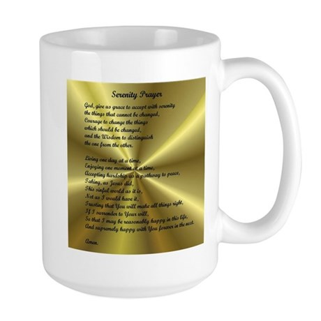 AA Serenity Prayer Large Mug