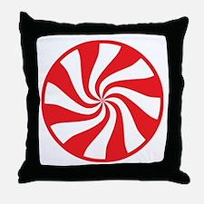 Peppermint Candy Throw Pillow
