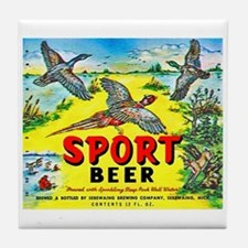 Michigan Beer Label 10 Tile Coaster