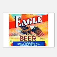 California Beer Label 4 Postcards (Package of 8)