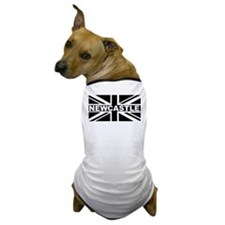 """Black & White Union Jack - Newcastle"" Dog T-Shirt"