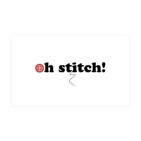 oh stitch! 38.5 x 24.5 Wall Peel