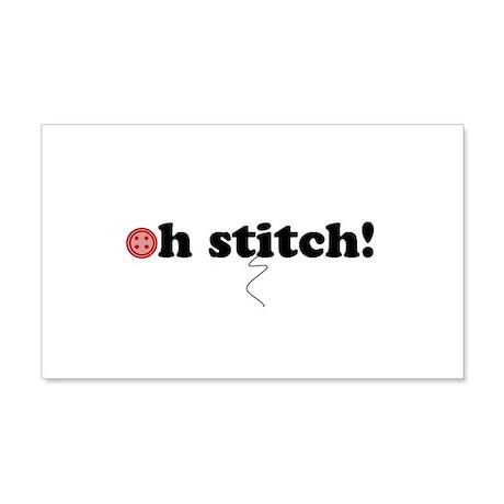 oh stitch! 22x14 Wall Peel