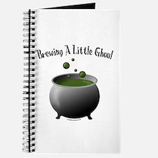 Funny Halloween maternity brew Journal