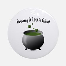 Funny Halloween maternity brew Ornament (Round)