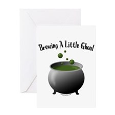 Funny Halloween maternity brew Greeting Card
