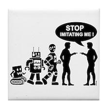 Robot evolution Tile Coaster