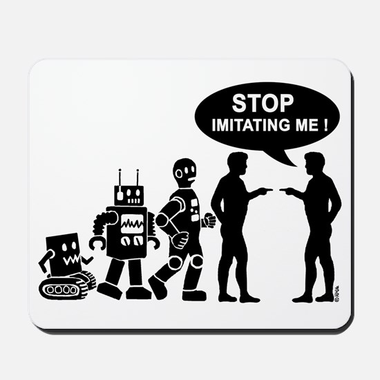 Robot evolution Mousepad