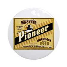 Washington Beer Label 2 Ornament (Round)