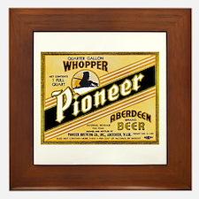 Washington Beer Label 2 Framed Tile