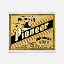 Washington Beer Label 2 Throw Blanket