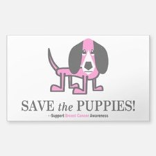 Save the Puppies Sticker (Rectangle)