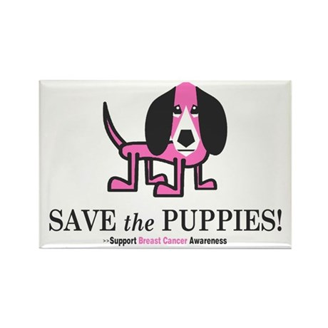 Save the Puppies Rectangle Magnet