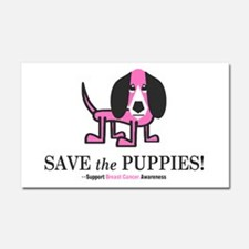 Save the Puppies Car Magnet 20 x 12