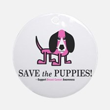 Save the Puppies Ornament (Round)
