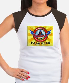 Wisconsin Beer Label 16 Women's Cap Sleeve T-Shirt