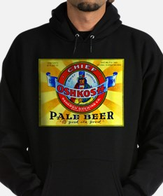Wisconsin Beer Label 16 Hoodie (dark)