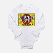 Wisconsin Beer Label 16 Long Sleeve Infant Bodysui