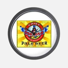 Wisconsin Beer Label 16 Wall Clock