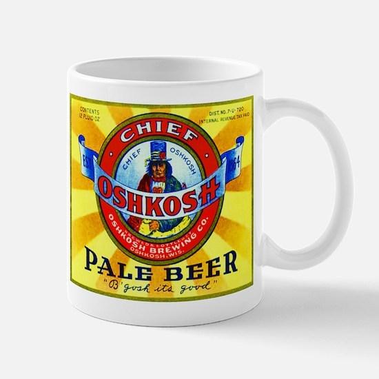 Wisconsin Beer Label 16 Mug