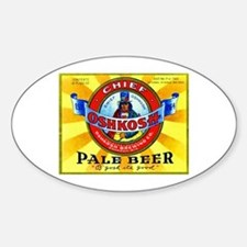 Wisconsin Beer Label 16 Sticker (Oval)