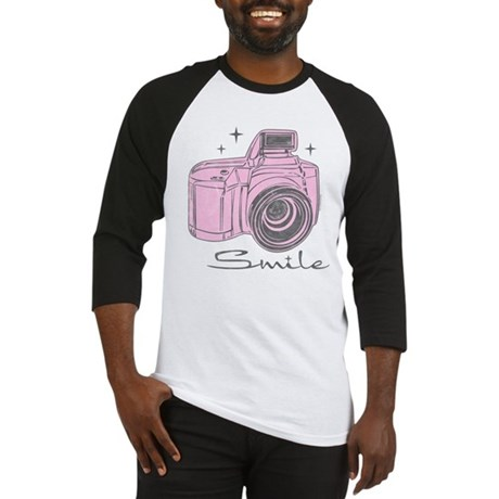 Camera Smile Baseball Jersey