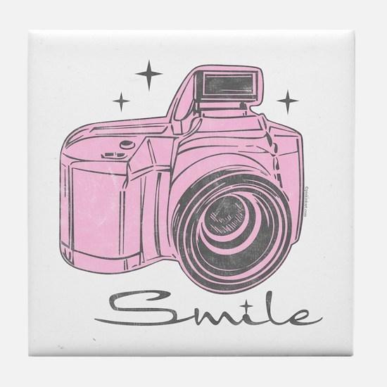 Camera Smile Tile Coaster