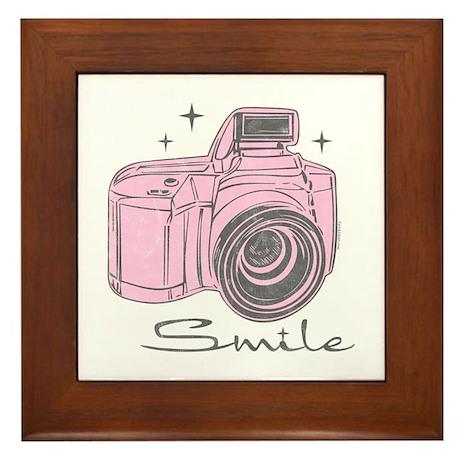 Camera Smile Framed Tile