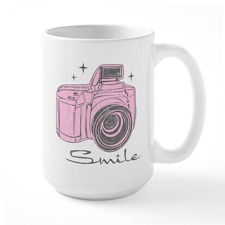 Camera Smile Large Mug