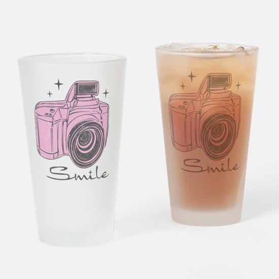 Camera Smile Drinking Glass